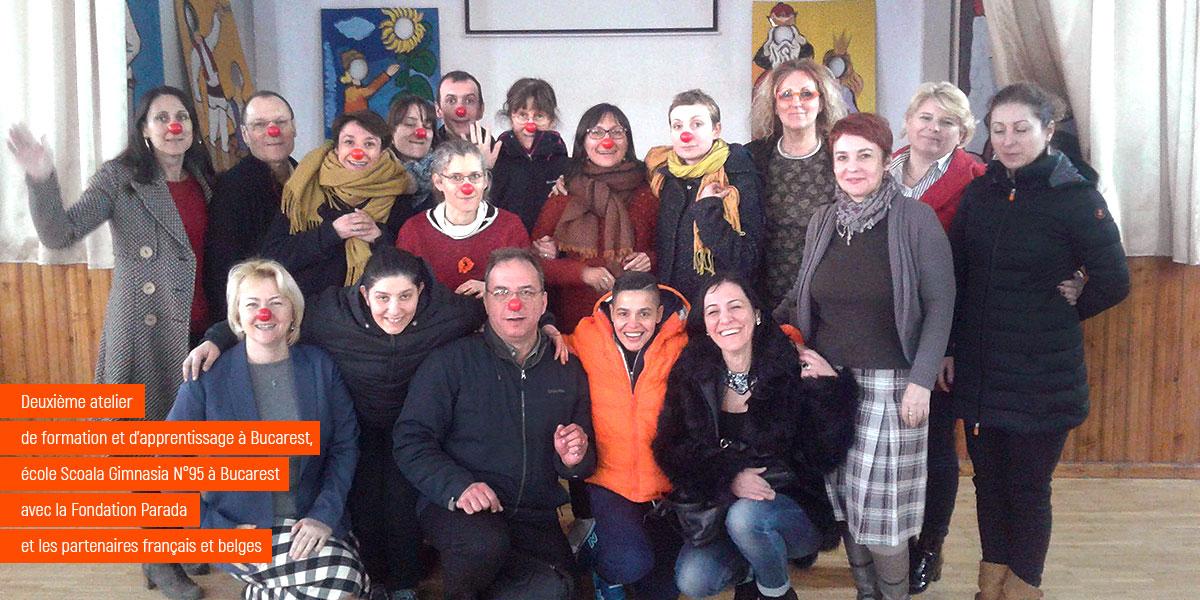Erasmus+ Atelier de formation Clown et inclusion en millieu scolaire